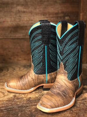 Anderson Bean Youth/ Kids Guru Sasquatch & Black Dakota Square Toe Boots ABK7925 - Painted Cowgirl Western Store