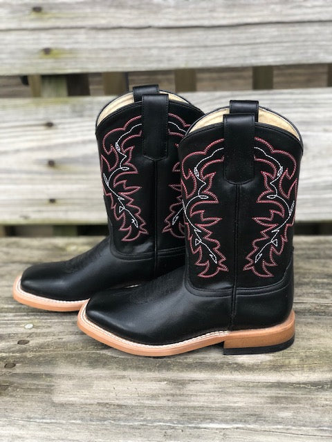 HorsePower Youth Black Magic Square Toe Western Boots HPK1835