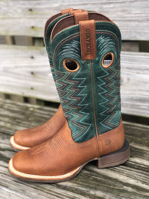 Durango Women's Lady Rebel Wheat & Tidal Teal Square Toe