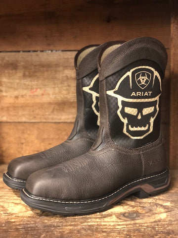 Ariat Men's Workhog XT VentTEK Iron Coffee Carbon Toe Work Boots 10031507