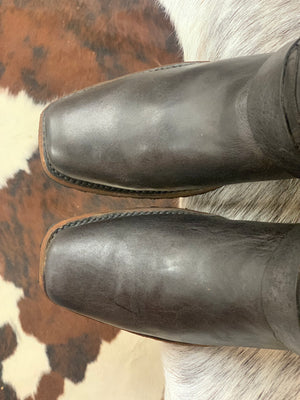 Load image into Gallery viewer, Dan Post Men's Bay Apache Brown Narrow Square Toe Western Boots DP3359