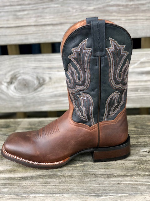 Dan Post Men's Winslow Brown & Dark Blue Square Toe Western Boots DP4556 - Painted Cowgirl Western Store