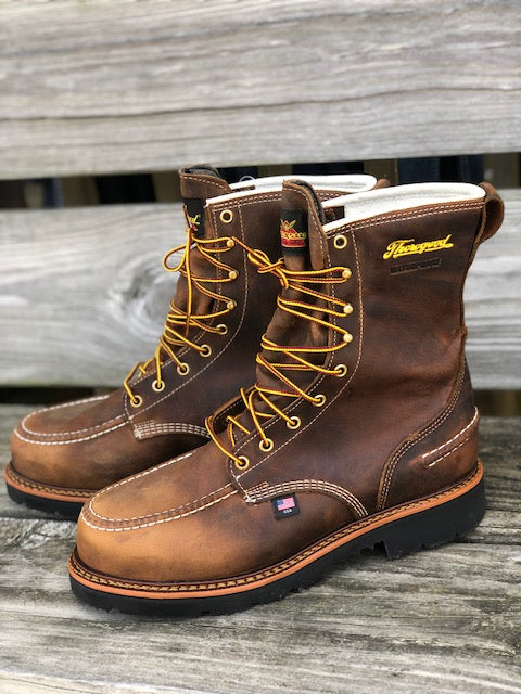 "Thorogood Men's 1957 Series Crazy Horse 8"" Waterproof Steel Toe Work Boots 804-3898 - Painted Cowgirl Western Store"
