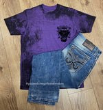 Affliction Men's Grease Fire Arctic Purple Short Sleeve Tee A23807