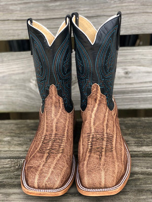 Anderson Bean Men's Terra Vintage Elephant & Essex Blue Steel Square Toe Boots 4602L - Painted Cowgirl Western Store