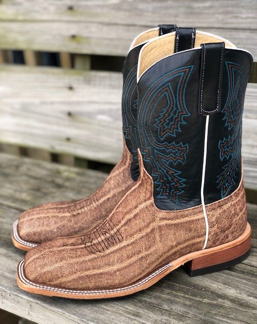 Anderson Bean Men's Terra Vintage Elephant & Essex Blue Steel Square Toe Boots 4602L