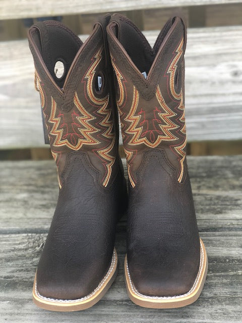 Durango Youth/ Childrens Lil' Rebel Brown Square Toe Western Boots DBT0219C DBT0219Y - Painted Cowgirl Western Store