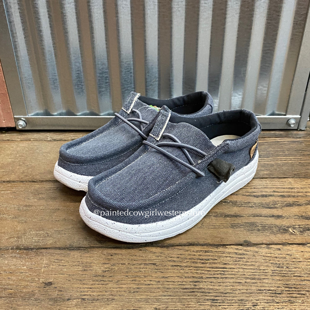 Lamo Boy's Paulie Kids Charcoal Casual Shoe CK2035/Charcoal