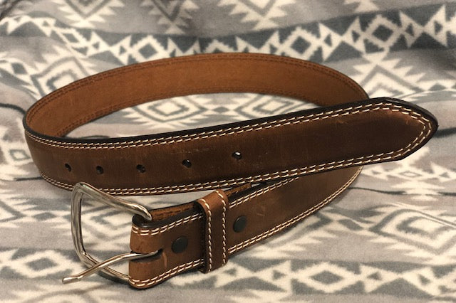Ranger Belt Company Youth Distressed Brown & White Leather Belt KB492