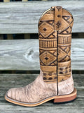 Corral Women's Bone Glitter Inlay & Embroidery Snip Toe Western Boots E1279