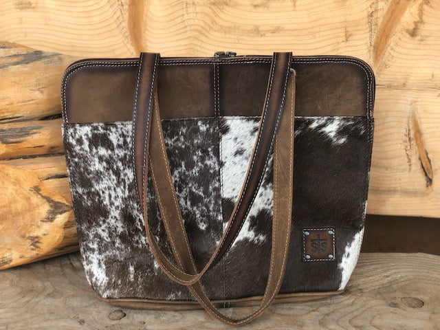 STS Ranchwear Cowhide Laptop Shopper Bag STS35020 - Painted Cowgirl Western Store