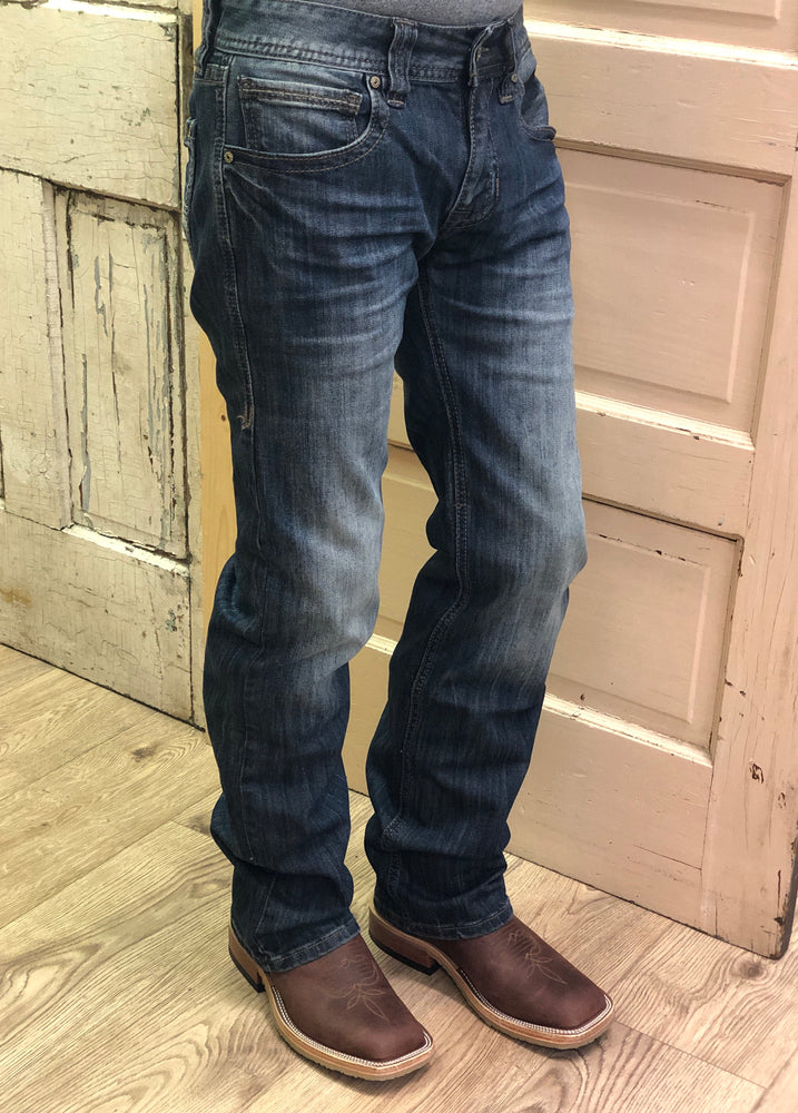 Rock & Roll Cowboy Regular Fit Dark Wash Straight Leg Jeans M1P4225 - Painted Cowgirl Western Store
