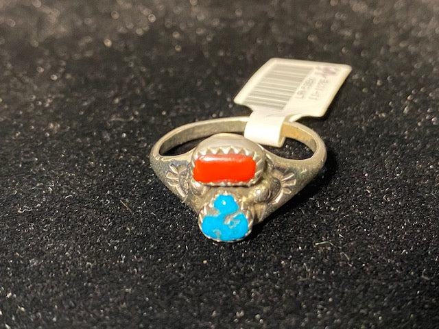 Thunderbird Jewelry Sterling Silver Turquoise Ring LRN506X - Painted Cowgirl Western Store