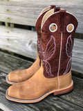 Anderson Bean Men's Rust Burnished CrazyHorse & Tanager Explosion Steel Toe Boots 4607L