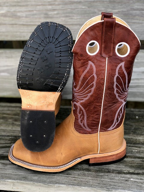 Load image into Gallery viewer, Anderson Bean Men's Rust Burnished CrazyHorse & Tanager Explosion Steel Toe Boots 4607L