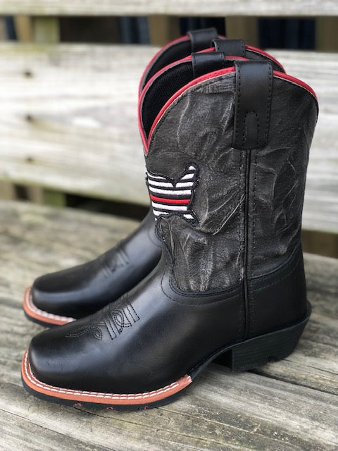Dan Post Youth Thin Red Line Square Toe Western Boots DPC2954