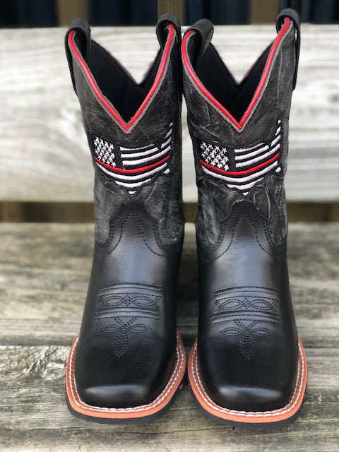 f4d6c37ac6c Dan Post Youth Thin Red Line Square Toe Western Boots DPC2954 ...