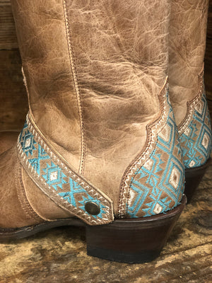 Roper Women's Pasadena Burnished Tan Round Toe Fashion Boots 7526-1719 - Painted Cowgirl Western Store