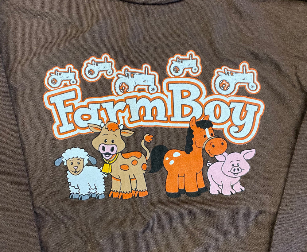 Cowboy Hardware Infant/toddler Boy's Farm Boy Brown Tee 710284-660