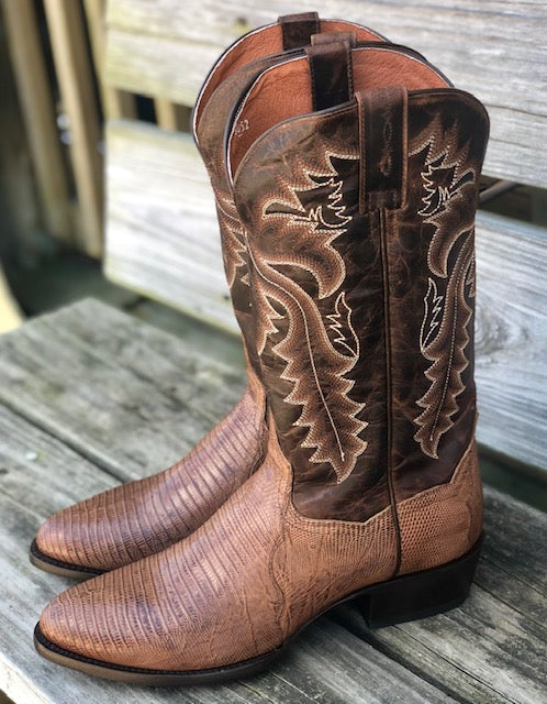 Load image into Gallery viewer, Dan Post Men's Winston Bay Apache Teju Lizzard Round Toe Western Boots DP3054 - Painted Cowgirl Western Store