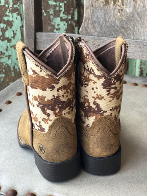 Ariat Lil Stompers Patriot Desert Camo Square Toe Boots A441000644 - Painted Cowgirl Western Store