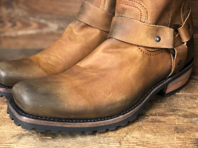 Load image into Gallery viewer, Liberty Black Men's Tan Square Toe Harness Boot LB-71108