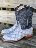 Anderson Bean Women's Blue Jean Matte Big Bass & Midnight Pearl Square Toe Boots 323447