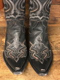 Corral Men's Distressed Dark Grey Embroidered Snip Toe Boots G1384