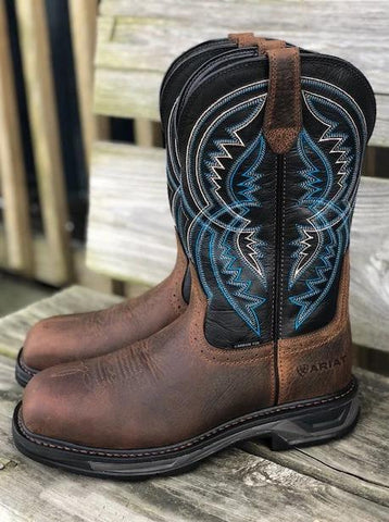 Ariat Men's WorkHog XT Coil Earth & Twilight Carbon Toe Work Boots 10029514