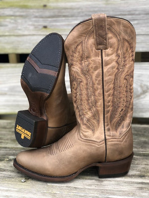 Load image into Gallery viewer, Dan Post Men's Jarrett Sand Round Toe Western Boots DP3369 - Painted Cowgirl Western Store