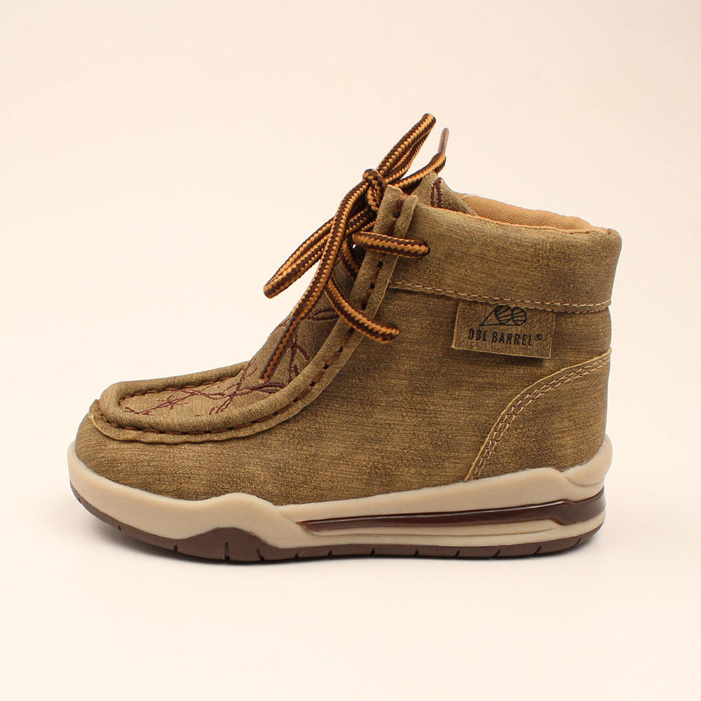 DBL Barrel Boy's Jackson Tan Barbed Wire Light Up Casual Shoes 443000808 446000808 - Painted Cowgirl Western Store