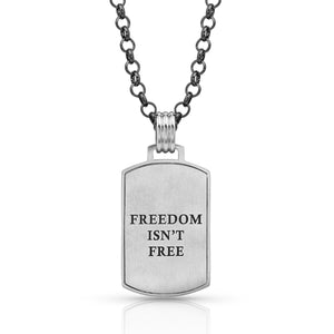 Montana Silversmiths Independence Day Flag Necklace KTNC4284