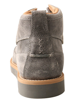 Twisted X Men's Grey Wedge Sole Lace Up Boots MCA0019