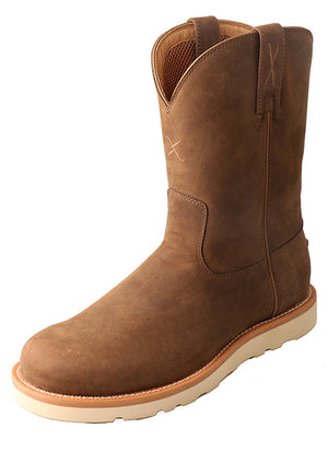 Twisted X Men's Distressed Saddle Brown Casual Wedge Boot MCB0001