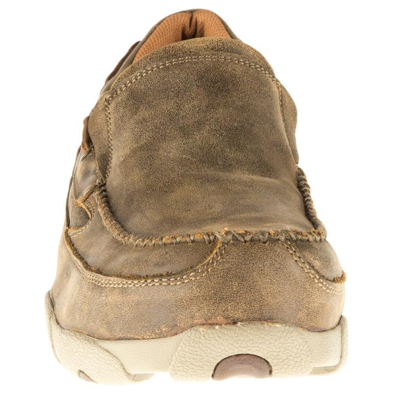 Twisted X Men's Bomber Leather Composite Toe Slip-On Driving Moccasin MDMSC03