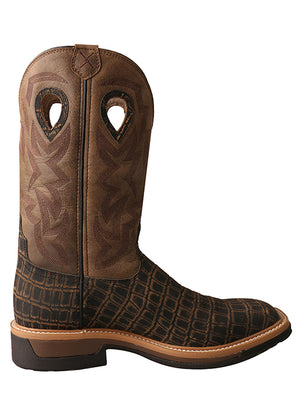 Twisted X Men's Caiman Print Square Alloy Toe Work Boots MLCA003 - Painted Cowgirl Western Store