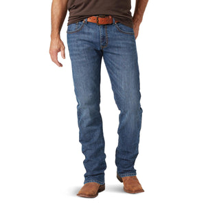 Load image into Gallery viewer, Wrangler Rock 47 Men's Duet Dark Wash Slim Straight Leg Jeans MRS47DT - Painted Cowgirl Western Store