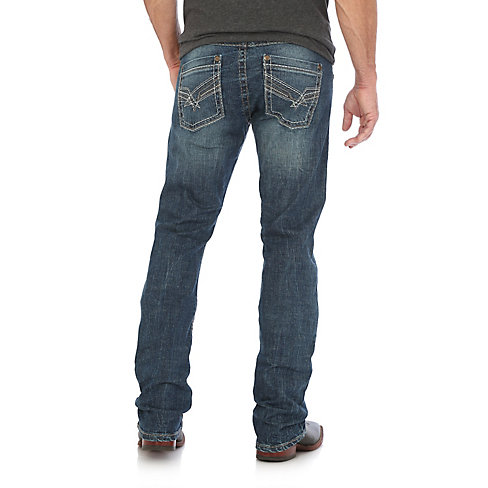 Wrangler Rock 47 >> Wrangler Rock 47 Regular Slim Straight Leg Medium Wash Jeans Mrs47so