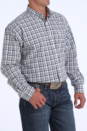 Cinch Men's Pink & Black Plaid Button Up Western Shirt MTW1104849 - Painted Cowgirl Western Store