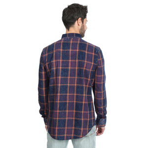 Wrangler Men's Retro Indigo Plaid Snap Up Western Shirt MVR481M - Painted Cowgirl Western Store