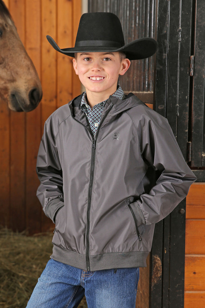 Cinch Boy's Charcoal Grey Weather Changing Windbreaker Jacket MWJ7550001