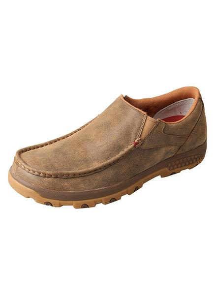 Twisted X Men's Bomber Slip-On Driving Moc with CellStretch® MXC0003