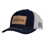 STS Ranchwear Men's The Ranch Hand Denim/White Mesh Ball Cap STS2212DNWHP