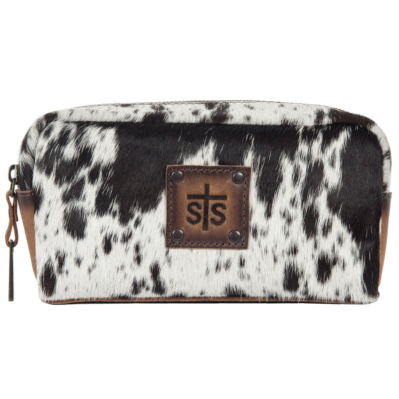 Load image into Gallery viewer, STS Ranchwear Bebe Cowhide Cosmetic Bag STS32733 - Painted Cowgirl Western Store