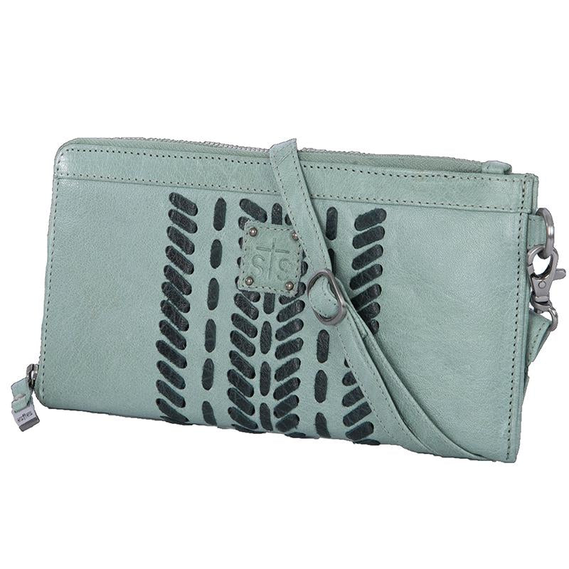 STS Ranchwear Marlowe Seafoam Leather Crossbody/ Clutch Purse STS33017 - Painted Cowgirl Western Store
