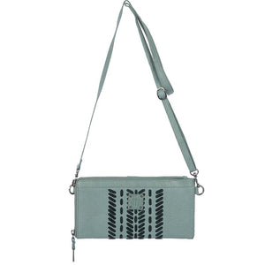 STS Ranchwear Marlowe Seafoam Leather Crossbody/ Clutch Purse STS33017