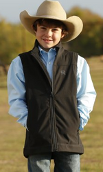 Cinch Boy's Bonded Black Vest MWV7520002