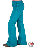 Cowgirl Tuff Girl's Just Tuff Turquoise Trouser GJTQTF