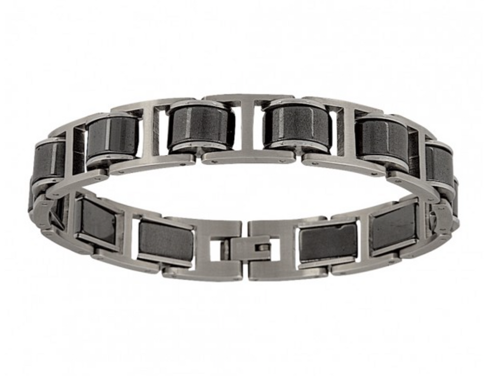 Montana Silversmiths Stainless Steel Linked Bracelet BC2565 - Painted Cowgirl Western Store