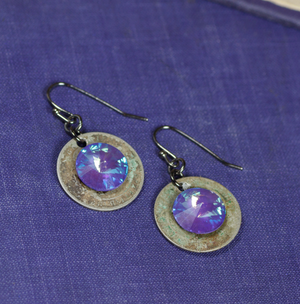 Cool Water Twilight Coin Earrings EW492-172